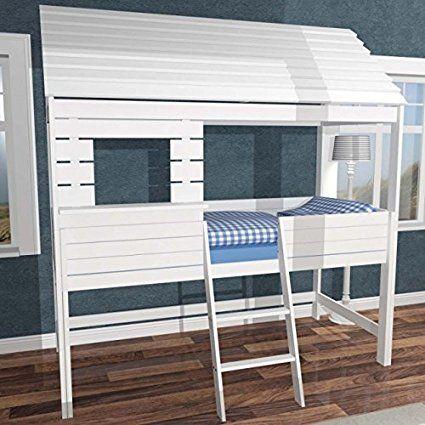 Kinderbett baumhaus  lounge-zone Hochbett Spielbett Hüttenbett FLEXHOME Baumhausbett ...