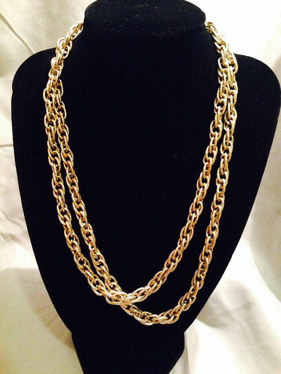 Gold tone metal link Necklace