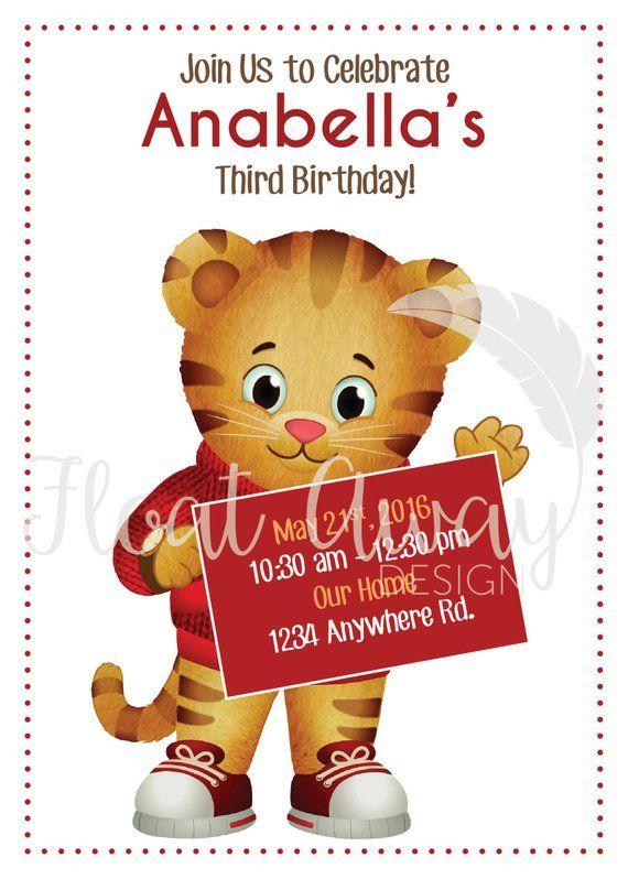 Daniel Tiger Birthday Invitation
