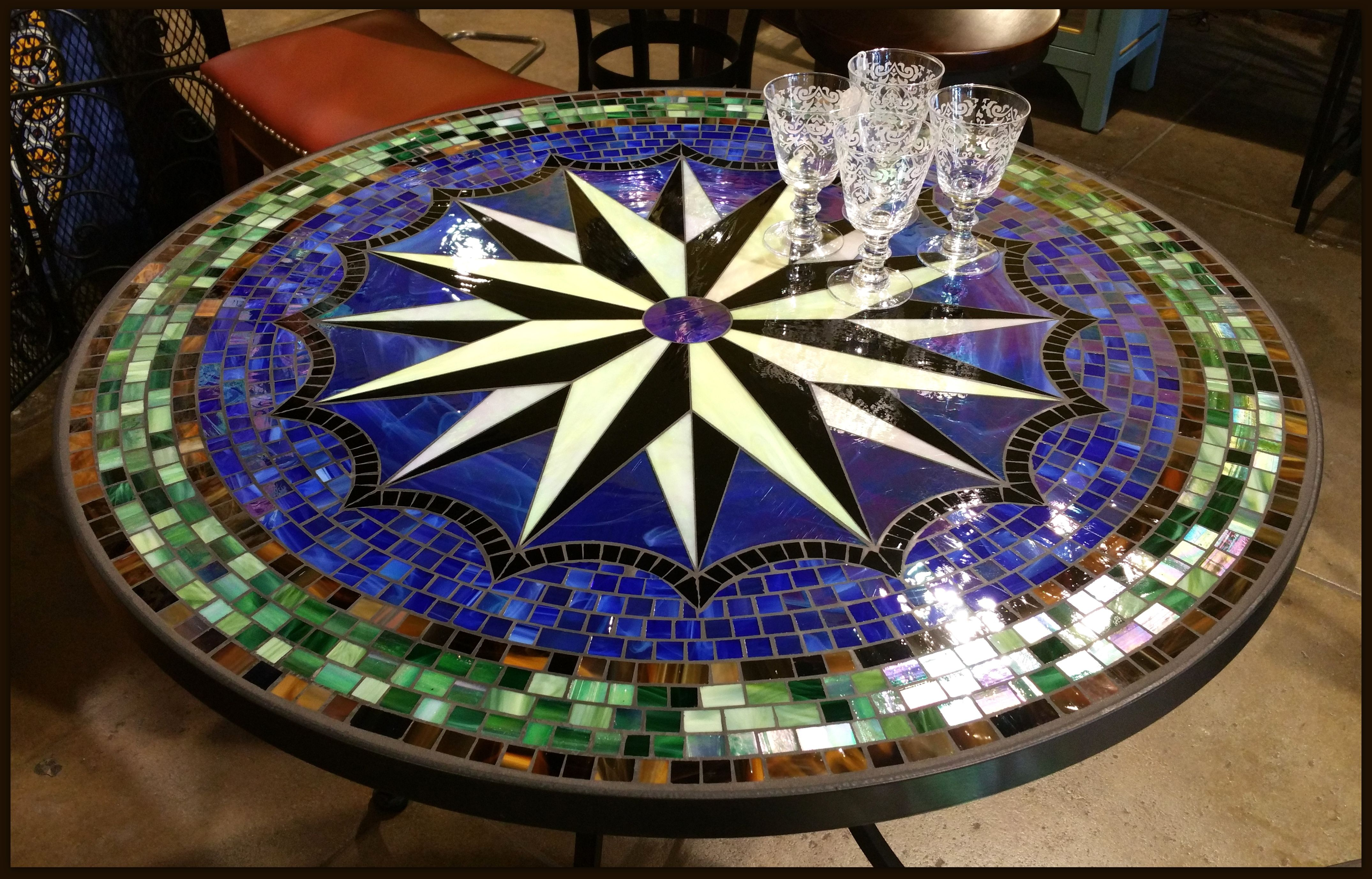 Tile and Glass Mosaic Tables Mosaics