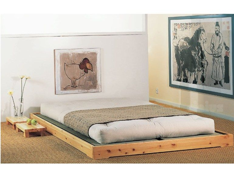 Cama tatami de madera maciza nokido by cinius 102 ea for Cama tatami