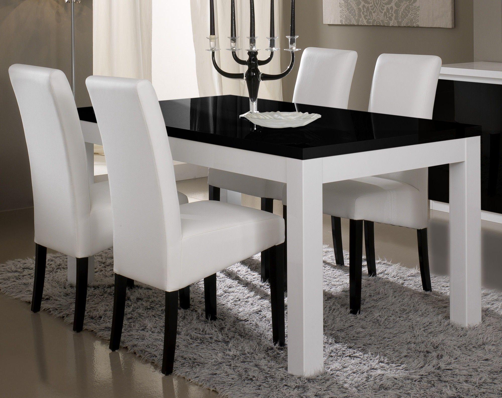 Impressionnant Chaise Pour Table Blanche Laquée Décoration - Table salle a manger design italien pour idees de deco de cuisine