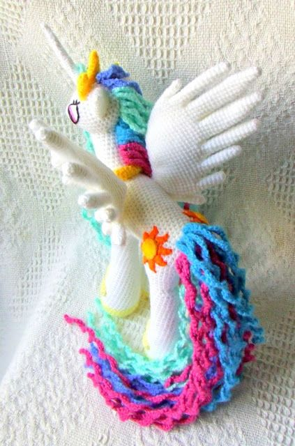 Princess Celestia My Little Pony Crochet Pattern #crochetpony