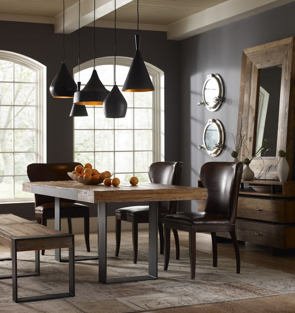 Graham Industrial Reclaimed Wood 84 Dining Table Dining Room Lighting Reclaimed Wood Dining Table Industrial Dining
