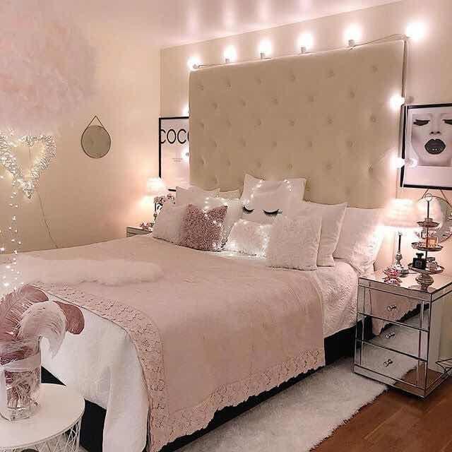 37 hermosas ideas para cuartos de chicas super chic 2019 for Habitacion rosa para chicas