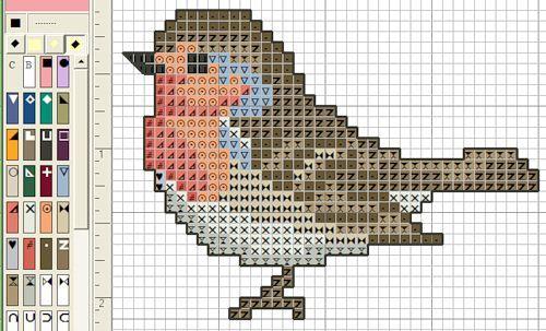 Photo of Robin cross stitch pattern