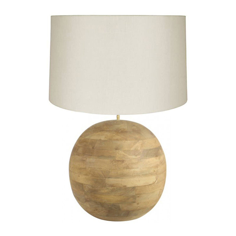 Teak Ball Lamp Products Teak Table Lamp Lighting