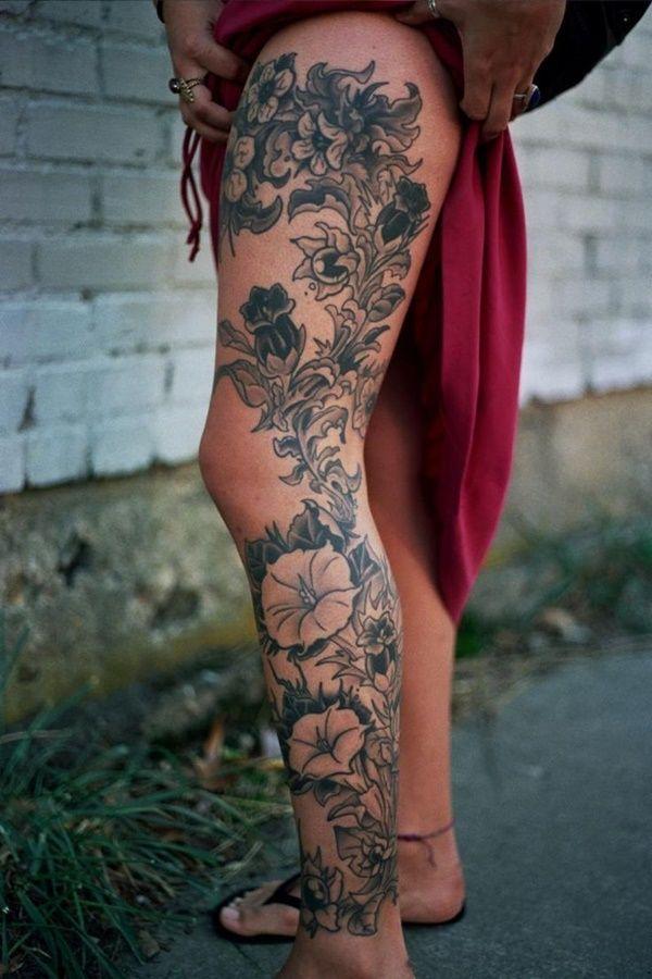 Tatuajes En La Pierna Para Mujer Rosas