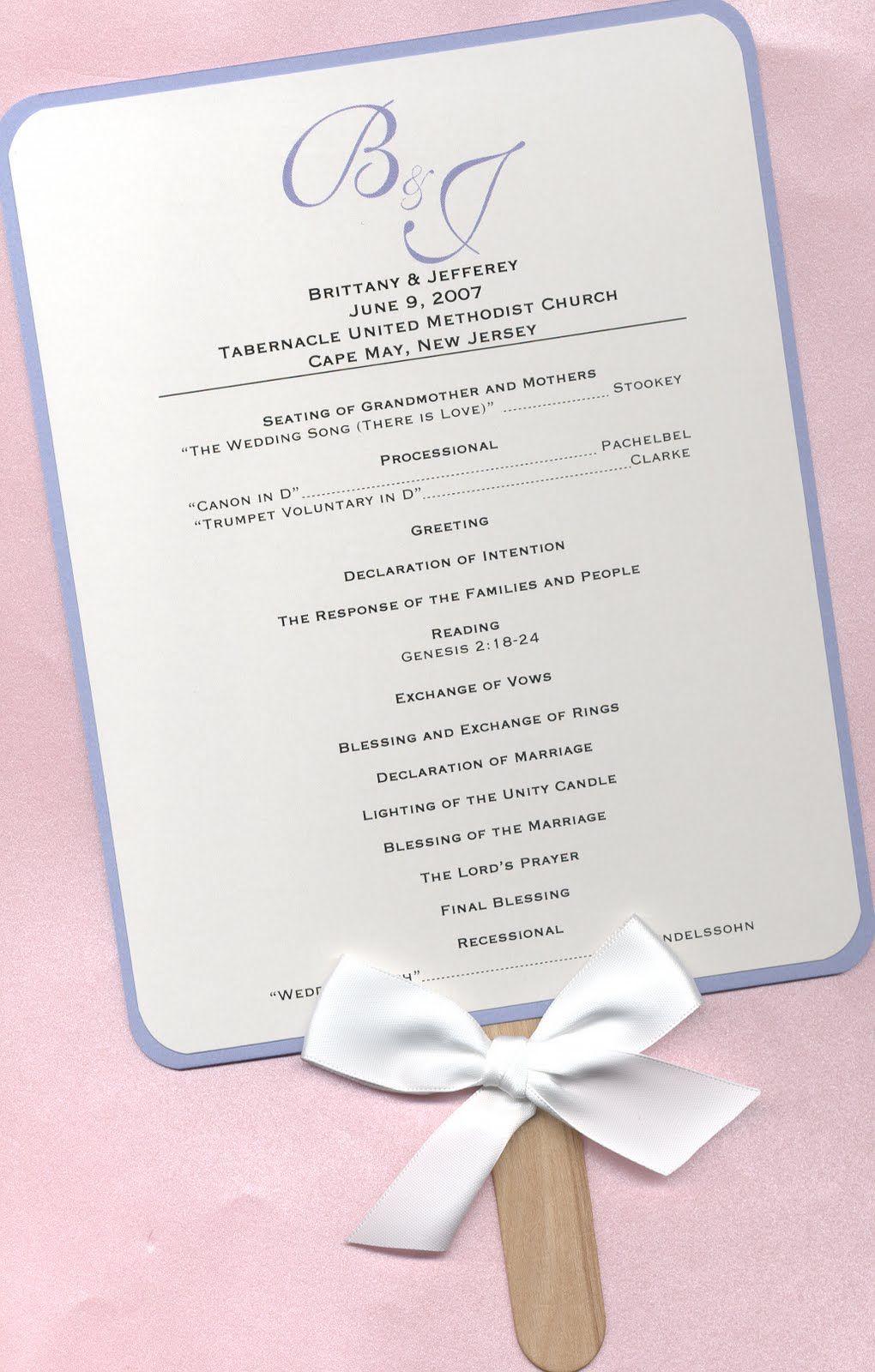 Wedding Program Templates Free | Program so you know what\'s going on ...