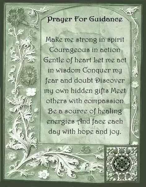Book Of Shadows Bos Prayer For Guidance Page Witchy Stuff