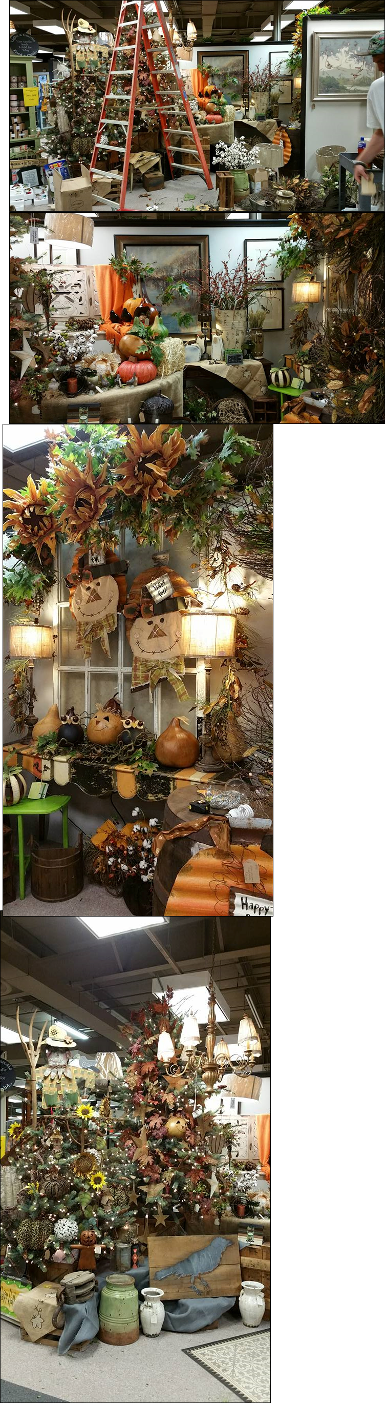 A Few Pics Of My Display Work For Branches And Burlap Greenville Sc See More Details On My Blog At Www Faceb Visual Merchandising Window Display Holiday Decor