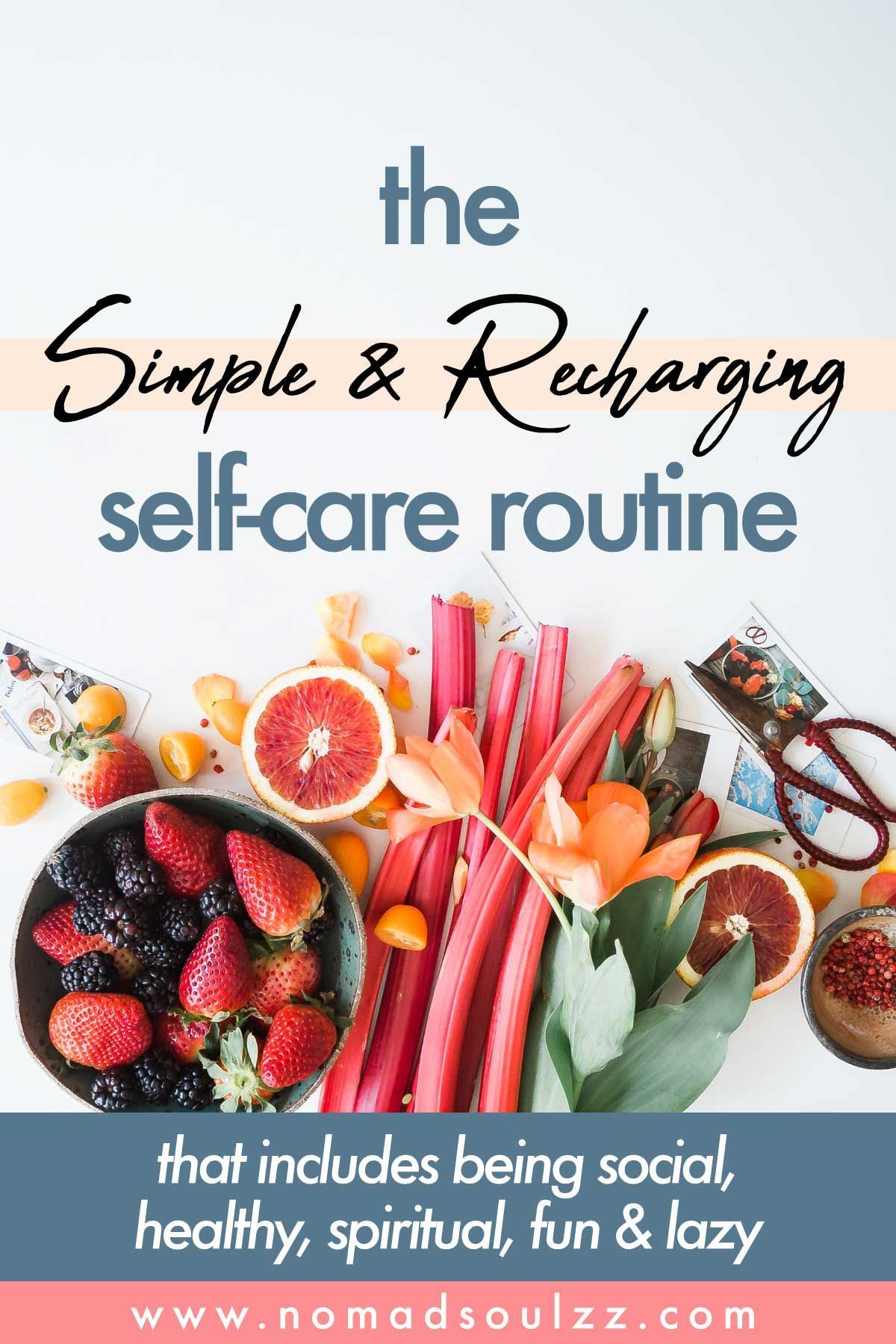 An easy recharging selfcare sunday routine checklist