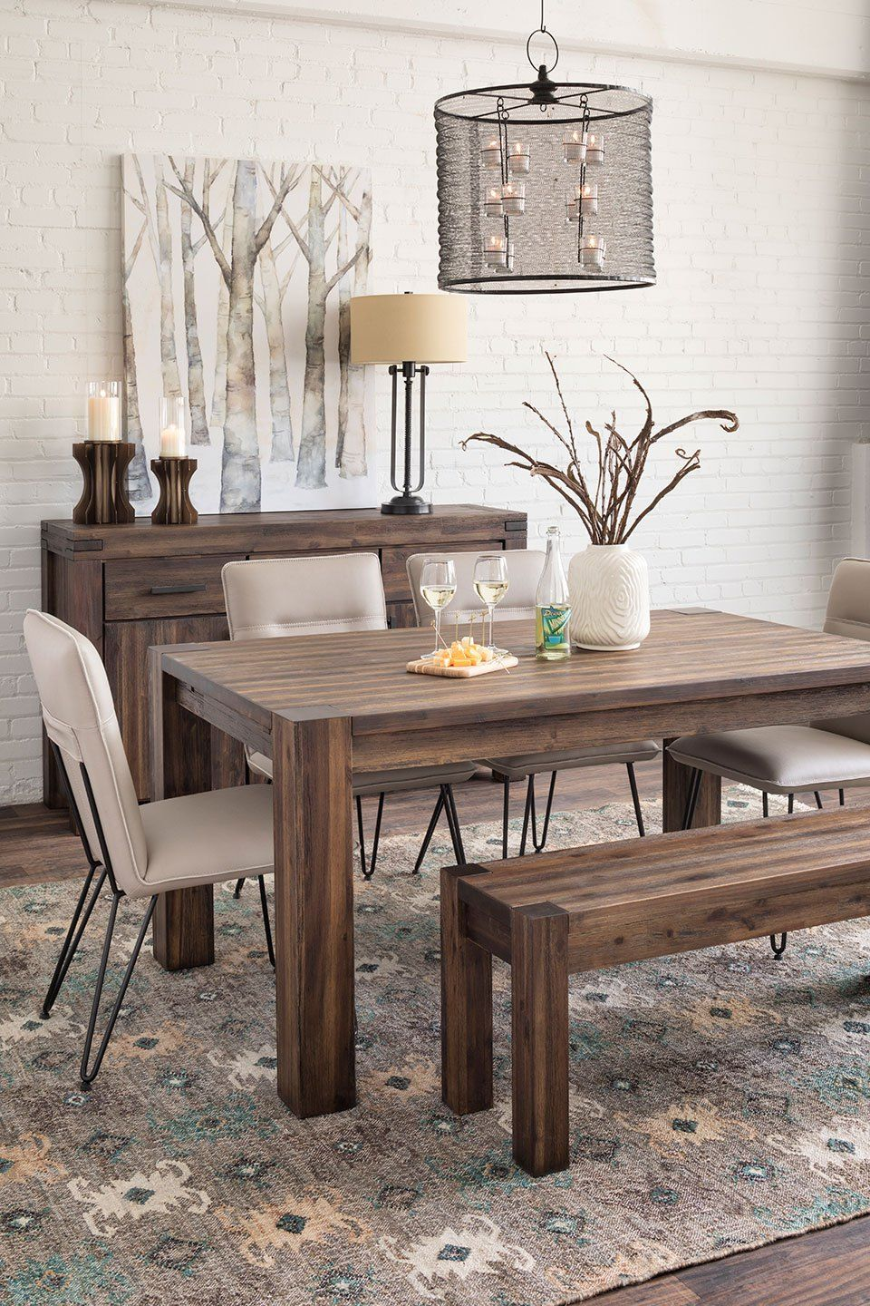 7 Reasons To Embrace The Rustic Trend  Rustic Table Bench And Room Impressive White Dining Room Bench Design Inspiration