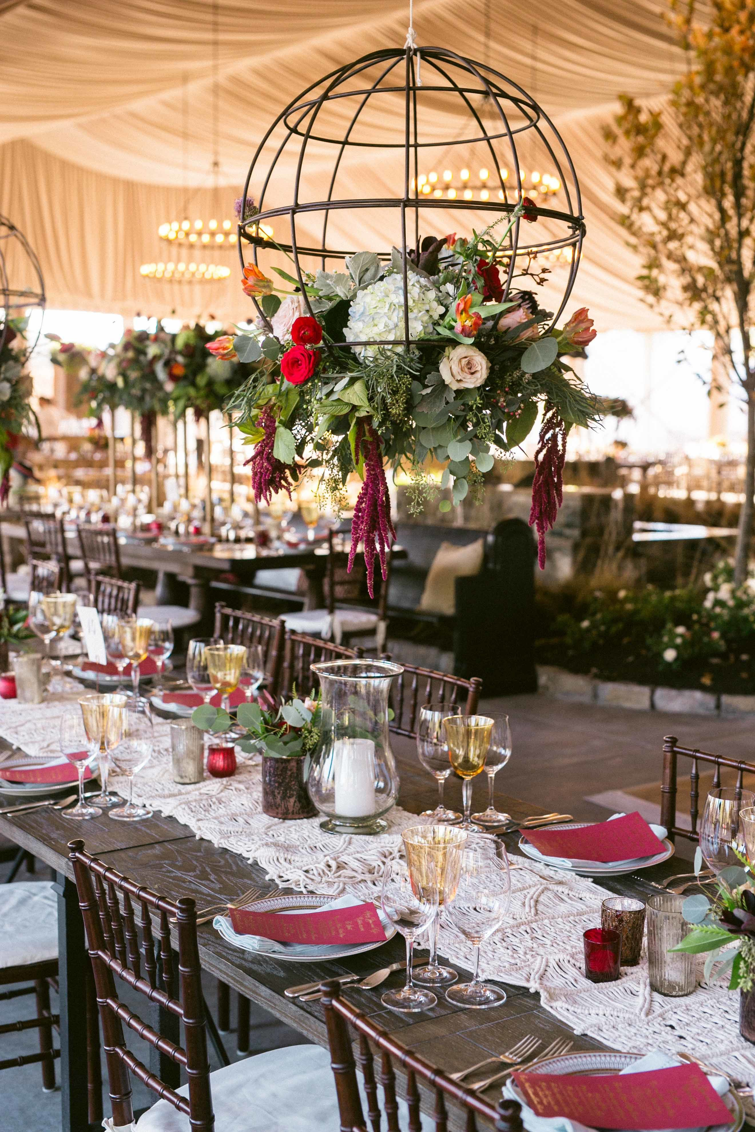 Eclectic Tented Reception