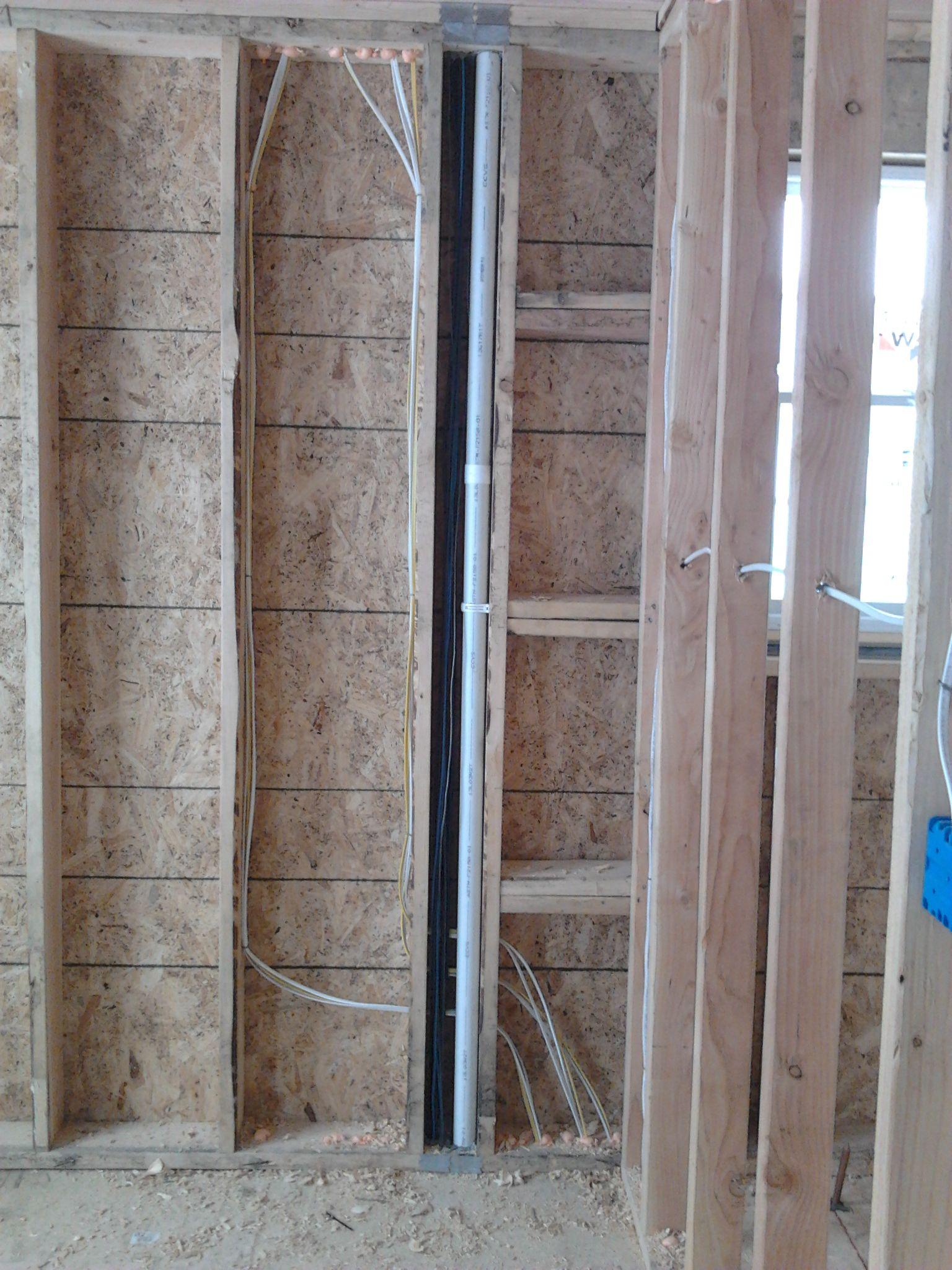 Home Pre Wire Alarm Audio Video Data Garage Doors And Conduit From Attic To Basement For Future Cables Burglar Burglar Alarm Tv Wall Installation
