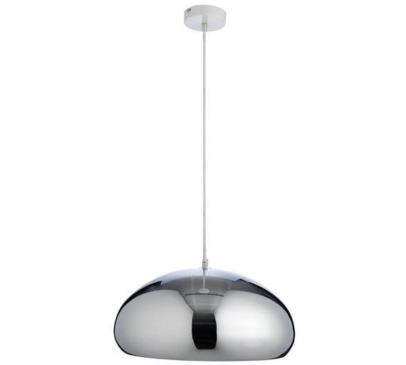 Ex display habitat rock 142127 pendant metal ceiling light fitting chrome finish