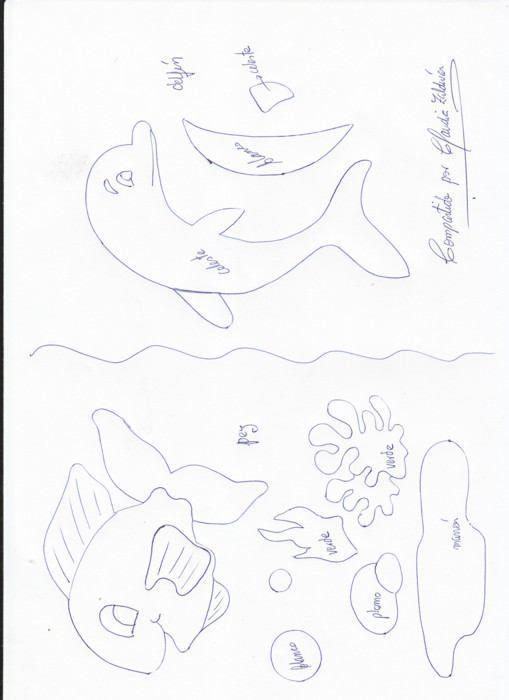 Molde de delfines - Imagui | DELFINES | Pinterest | Moldes, Juegos ...