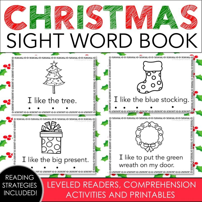 Christmas sight word book with a freebie sight words