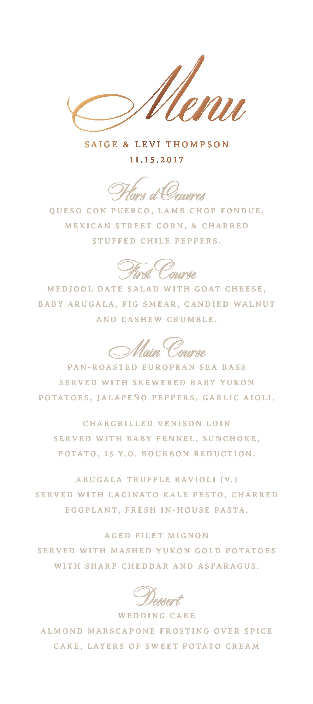 3da94c7edfeb2 wedding menu, wedding menu cards, custom menu cards, elegant menu ...