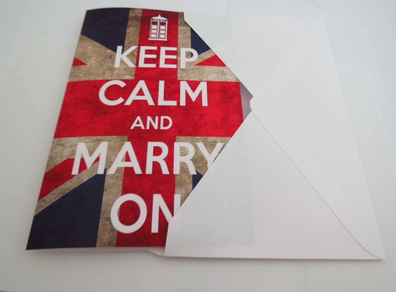 Printable Wedding Invitation, Keep Calm and Marry On Doctor Who ...