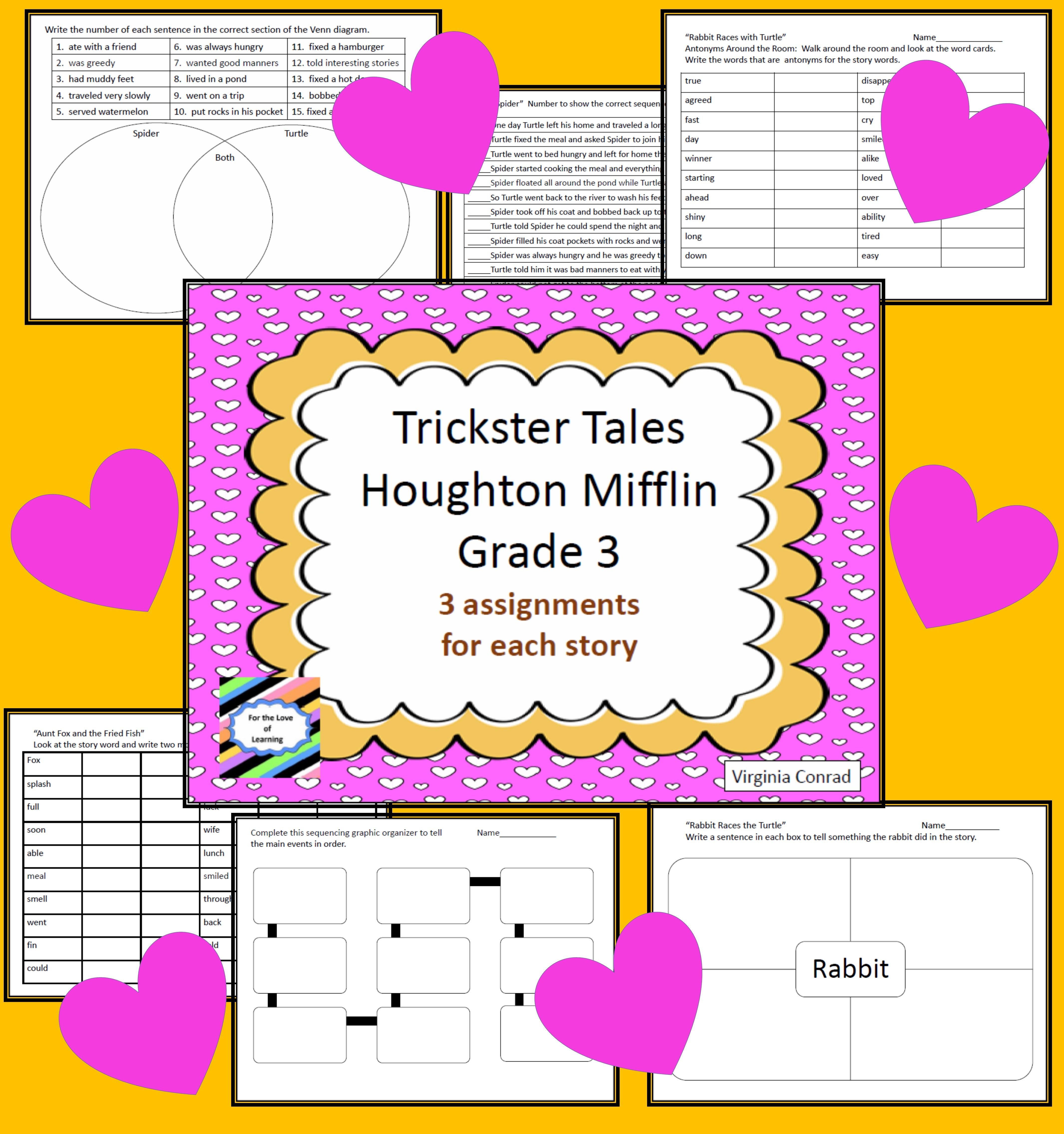 Trickster Tales 9 Activities Houghton Mifflin Grade 3 5th Grade Social Studies Worksheets And Activities For The Fun Trickster Tales Unit In Third Grad Houghton Mifflin