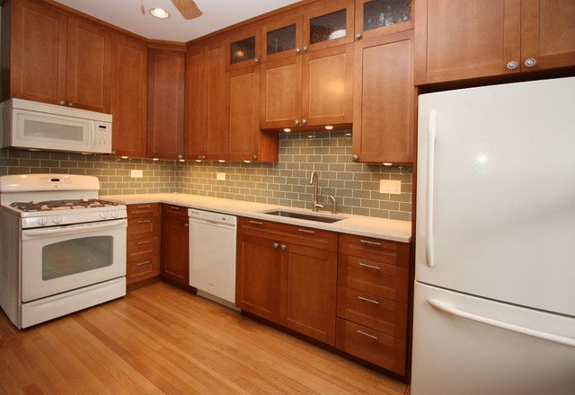 White and Cherry Wood Kitchen Remodel contemporary kitchen | For Dad ...