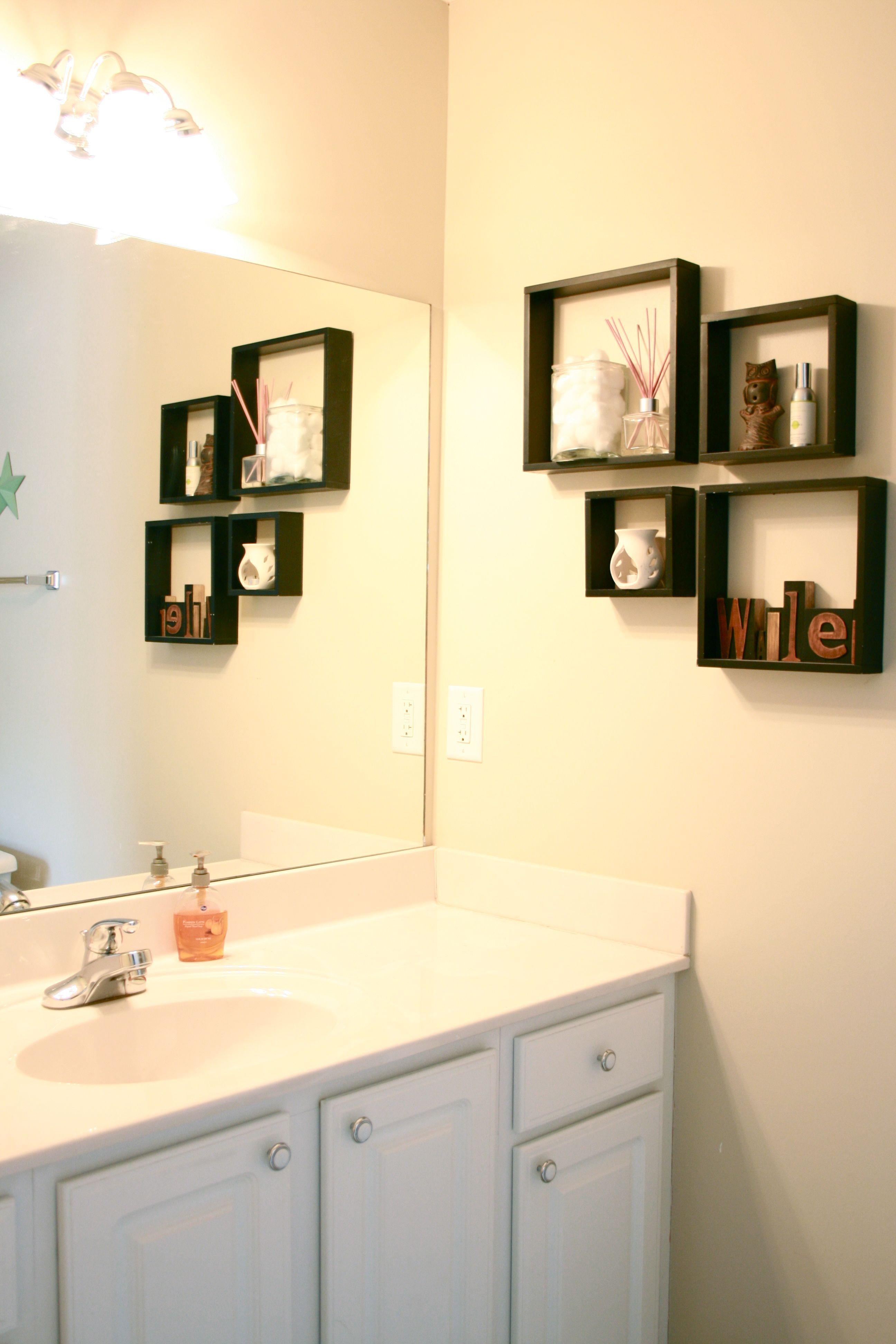 cube shelf restroom decoration ideas google search on bathroom wall decor id=24421