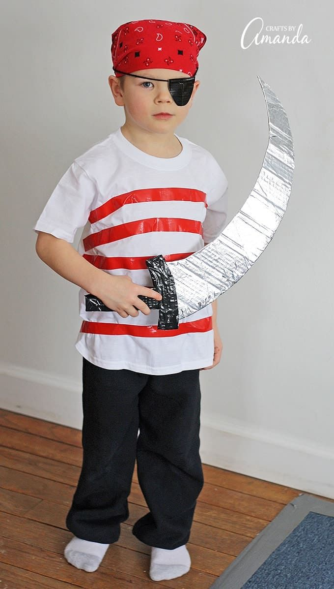 Pirate Costume: Make your own Halloween costume from duct tape #diypiratecostumeforkids