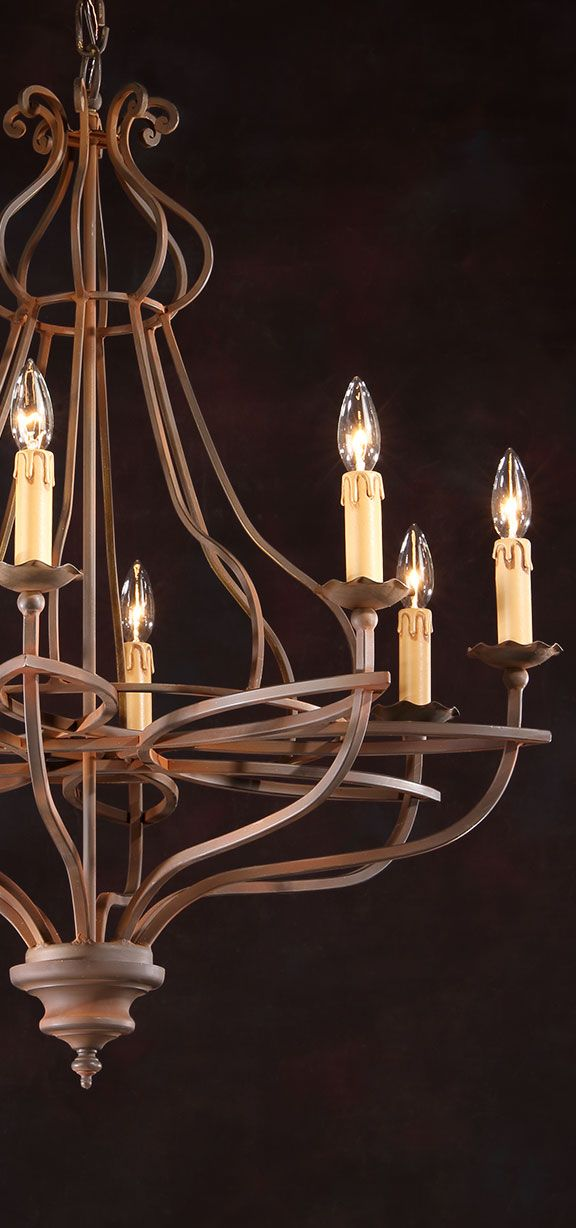 Wrought Iron Chandeliers Rustic – Rustic Wrought Iron Chandelier