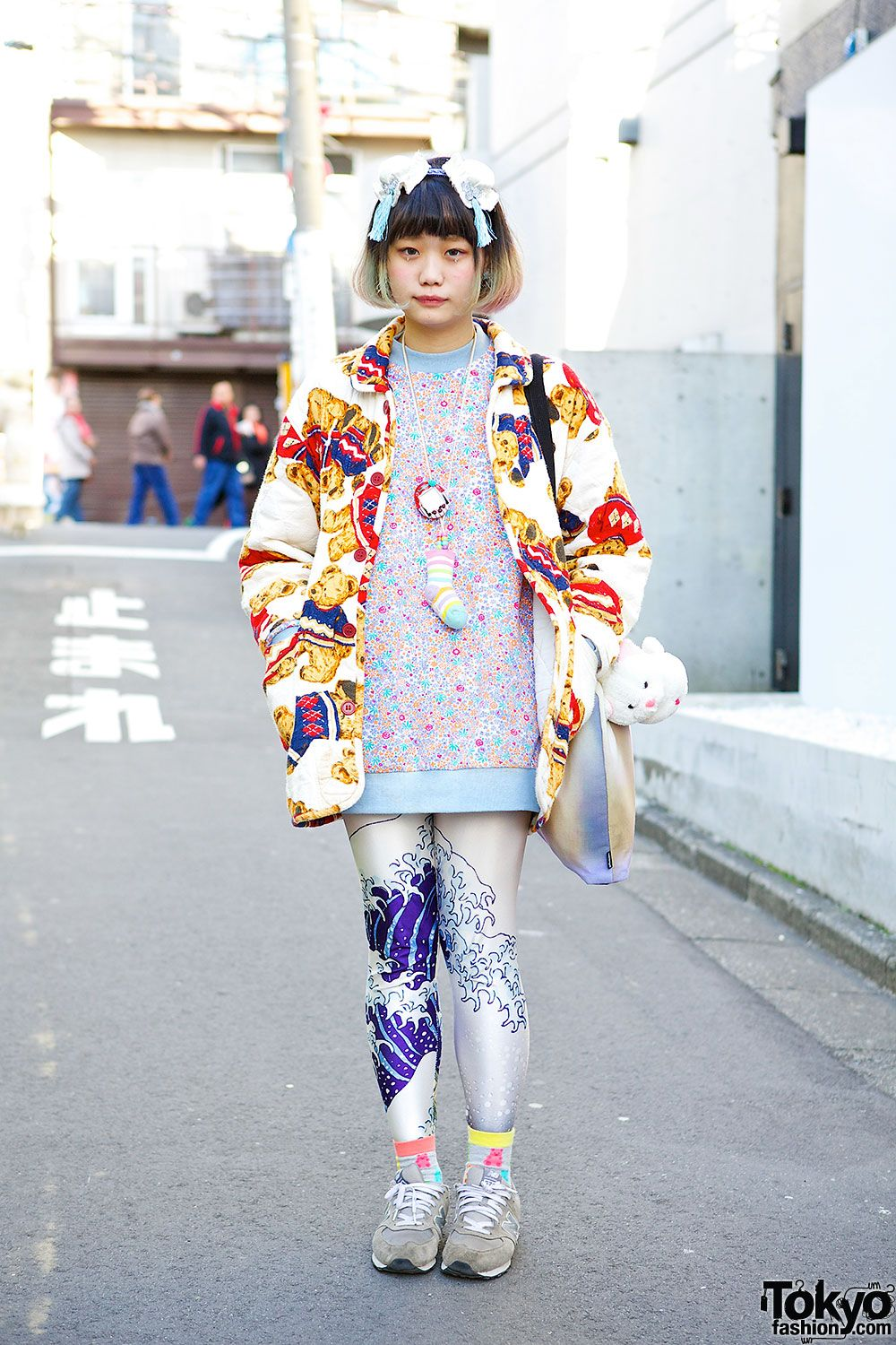 Elleanor, 19 years old, works at resale shop Kinji Harajuku & at Scramble Market in LaForet. she also does a fun/cute video series for Tokyo Fashion. watch here: https://www.youtube.com/watch?v=iLYV0MwihUk&list=PLWInlmFraFbGbEAi3pS7m_cxmwnZ_AKYg | 4 May 2014 | #Fashion #Harajuku (原宿) #Shibuya (渋谷) #Tokyo (東京) #Japan (日本)