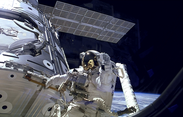 How are astronauts time travelers? -- Due to Einstein's theory of special relativity, astronauts orbiting our planet, namely those on the International Space Station (ISS), experience time more slowly than us on Earth.