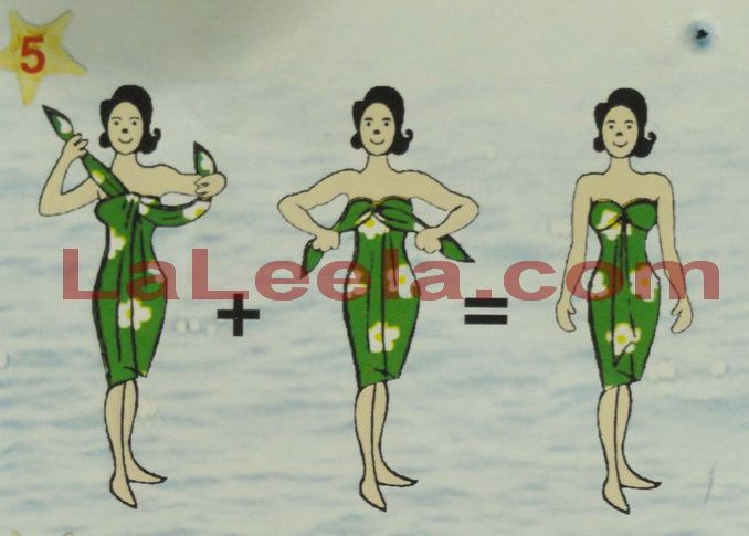 how to wear a sarong as a dress