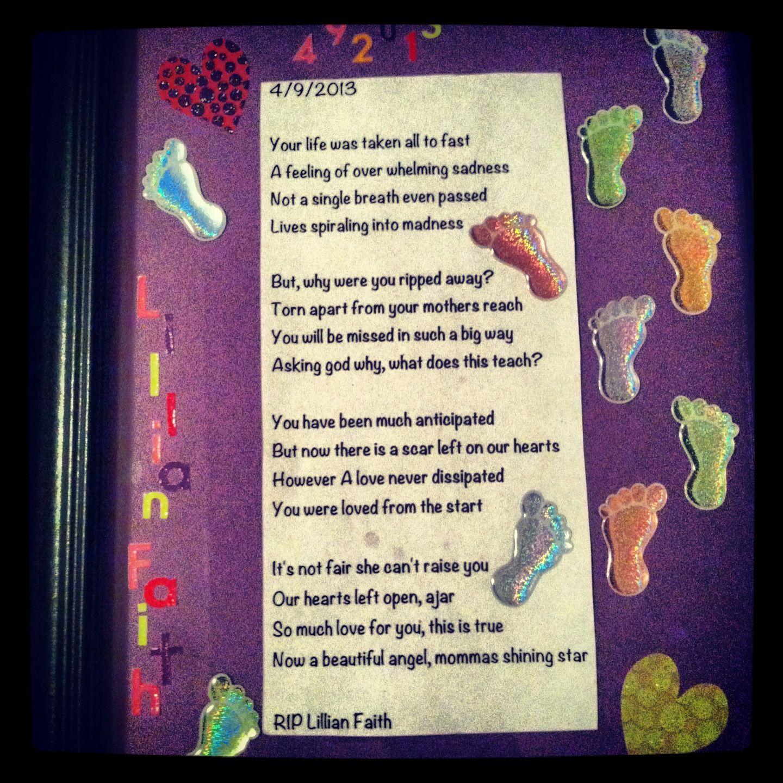 Poem about best friends still born full term daughter