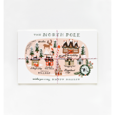 North Pole Map Postcards #landgwishlist