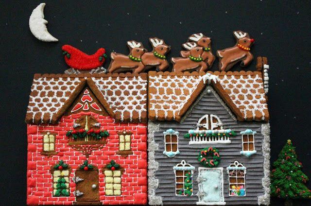Worth Pinning Decorated Pretzel Cabins Christmas Treats