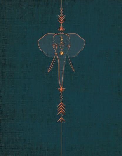 Elephant Art Print                                                              ... - Carolin Schips