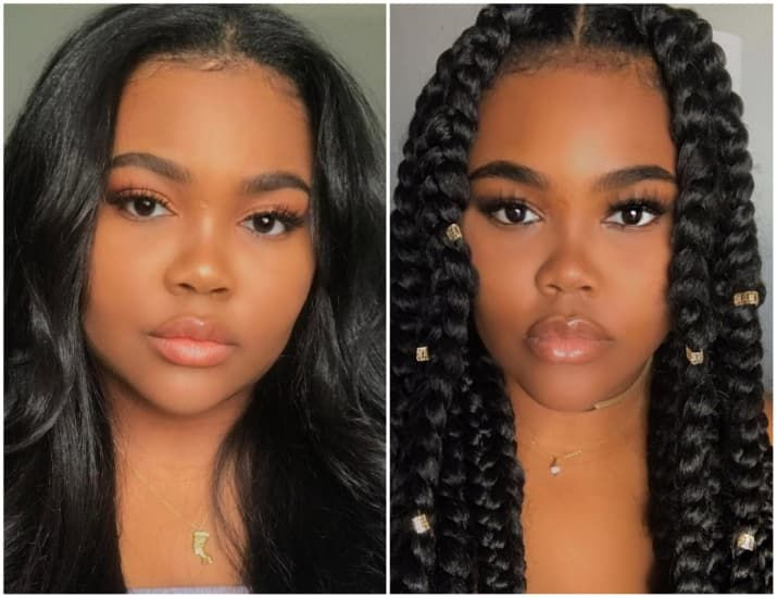 17 Before And After Pics That Prove You Look Like A Different Person With Braids Braided Hairstyles Hair Transformation Hair Styles
