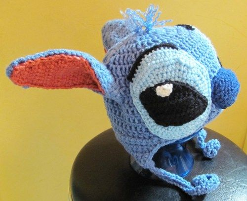 Stitch Puppy Hat Blue Lilo And Stitch Fanart Earflap Hat