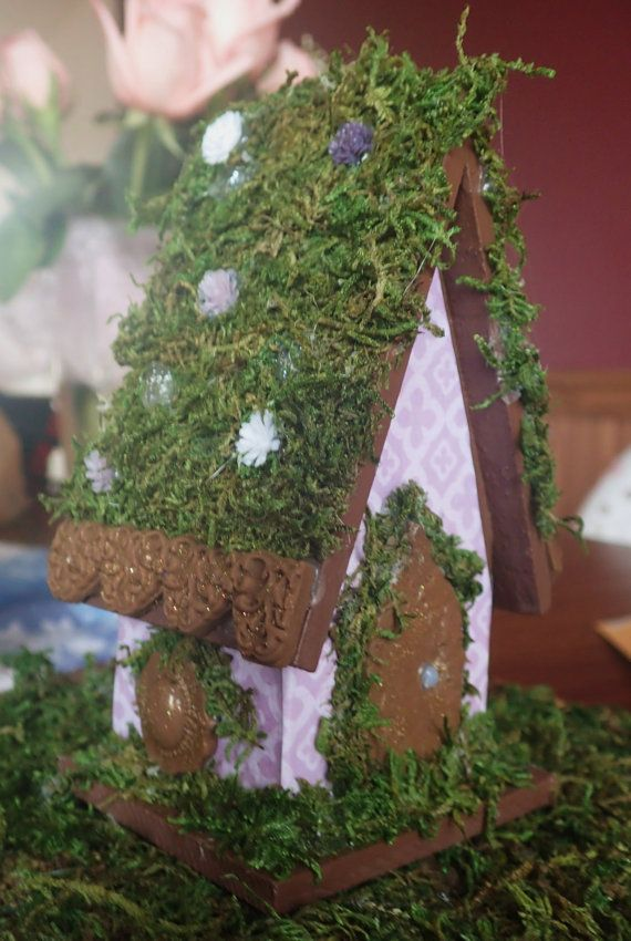 Miniature House for Fairy Gardens Purple Fairy by DreamingofFaerie