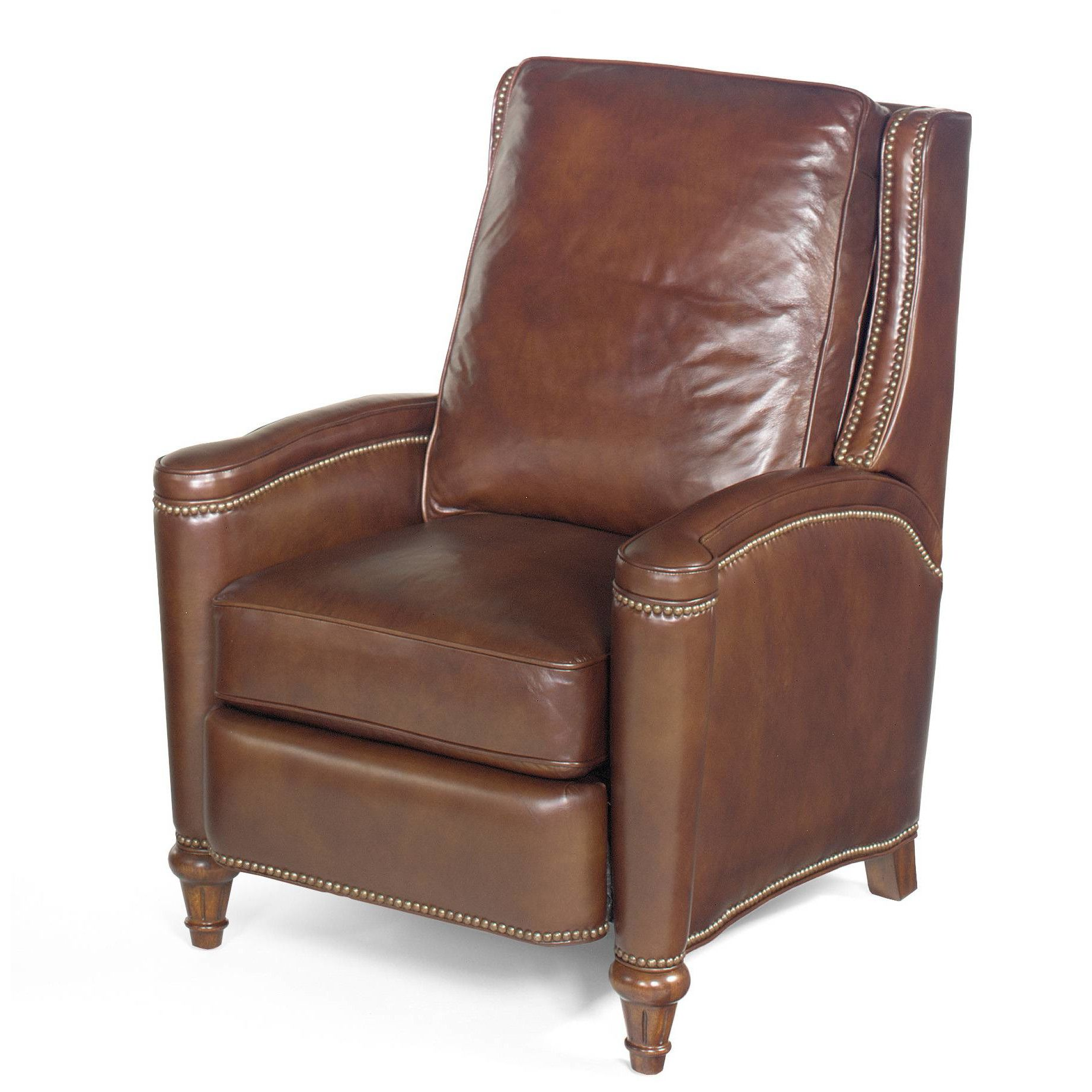 Customer Image Zoomed Leather recliner, Brown leather