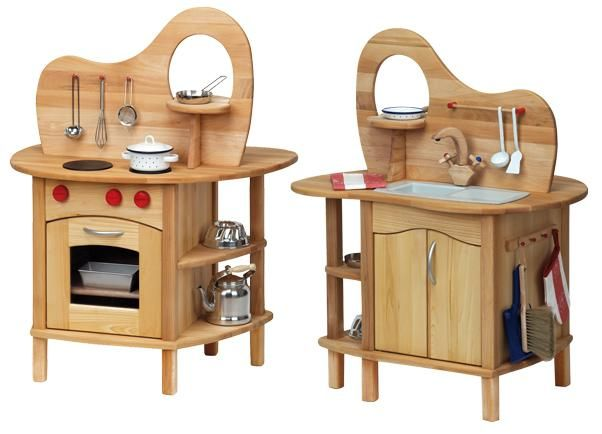Myriad Natural Toys & Crafts :: Role Play - Wooden Play Kitchen ...