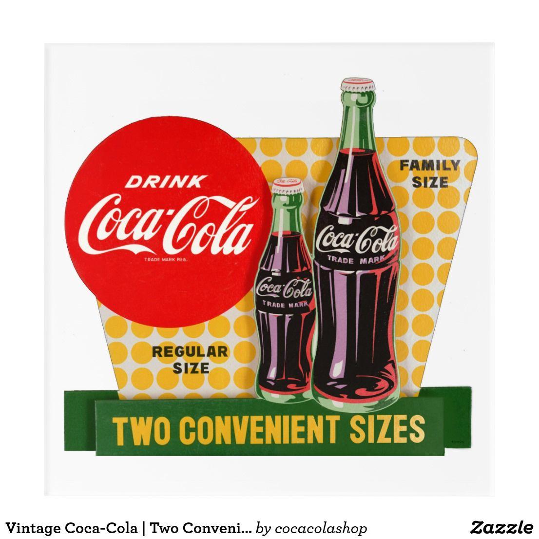 Coca Cola Gifts >> Vintage Coca Cola Two Convenient Sizes Acrylic Print Zazzle Com