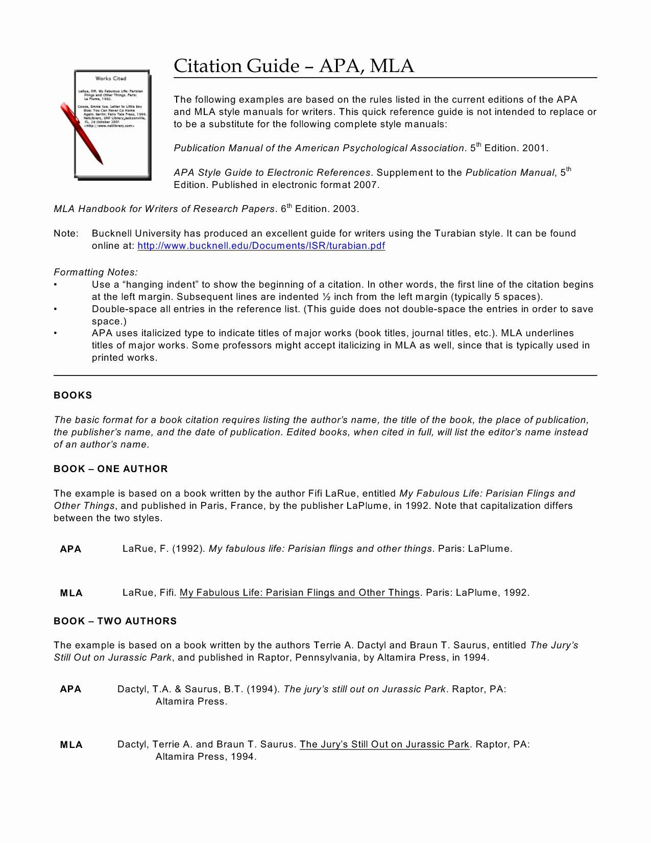 Mla Practice Worksheet