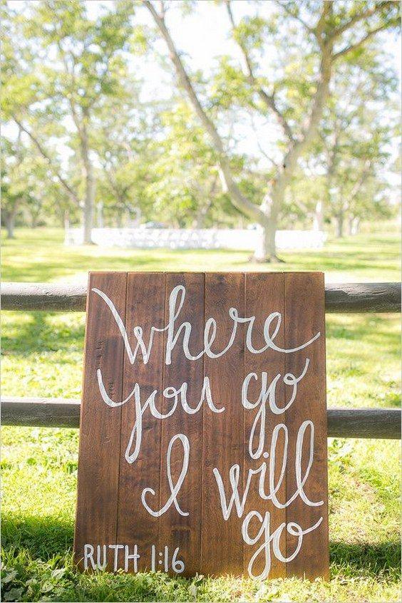 Perfect 30 Rustic Wedding Signs U0026 Ideas For Weddings
