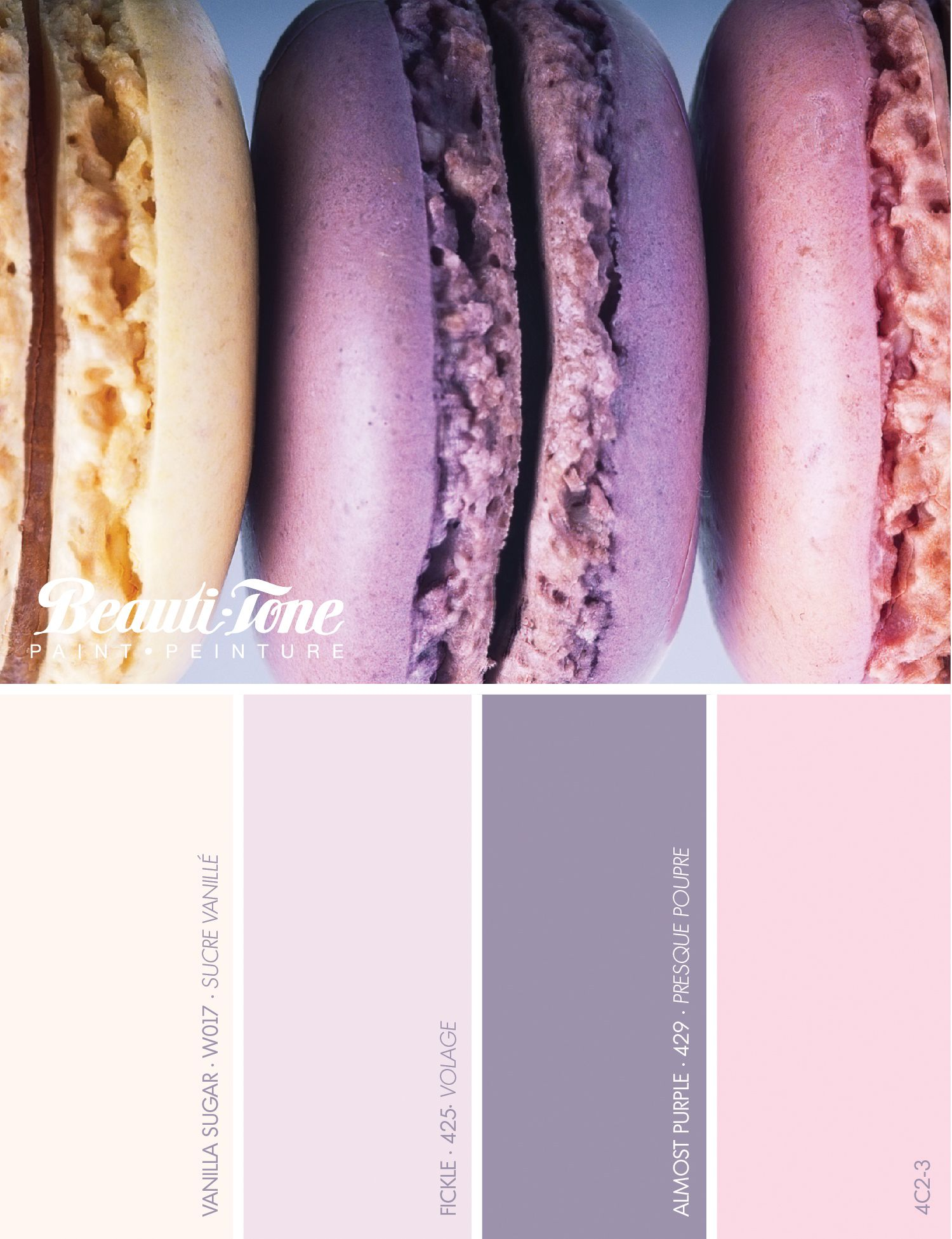 Your favourite desserts can do more than make your mouth water delicious french macaroons with matching eye filling colours exclusively from beauti tone paint geenschuldenfo Images