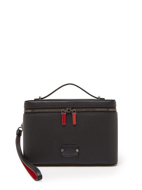 f57eaa59d4f5 CHRISTIAN LOUBOUTIN CHRISTIAN LOUBOUTIN - KYPIPOUCH LEATHER BAG - MENS -  BLACK.  christianlouboutin