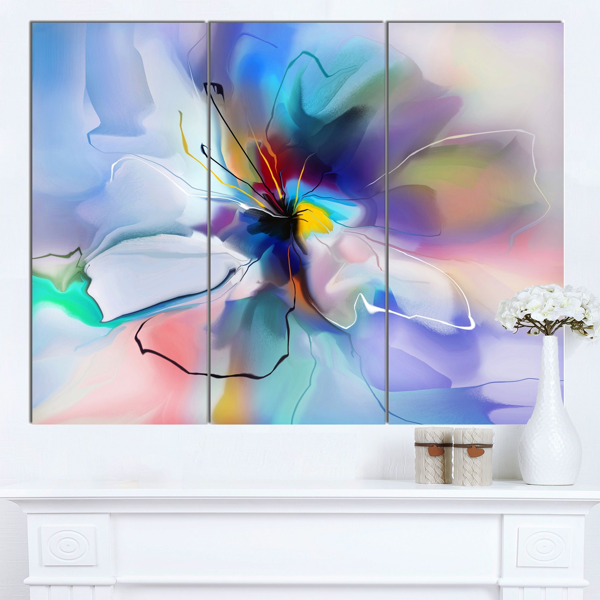 Designart uabstract creative floweru extra floral wall art
