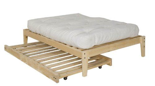 Twin Size Trundle Bed Frame Unfinished Wood 100 Clean Solid