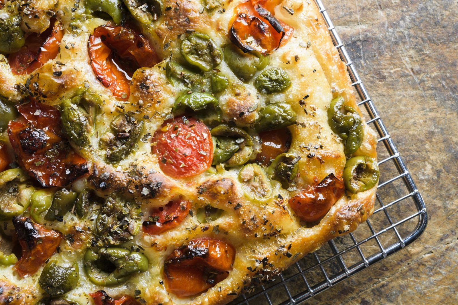 Tomato Olive Focaccia Recipe Focaccia Italian Recipes Recipes