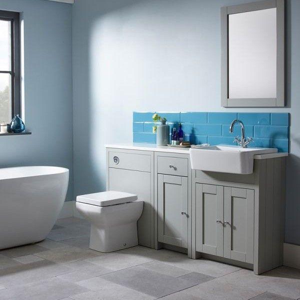 Bathroom Cabinets 700mm tavistock lansdown linen white freestanding vanity unit 700mm